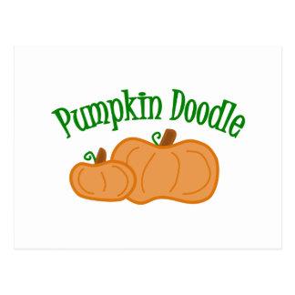 Pumpkin Doodle Postcard