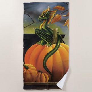 Pumpkin Dragon Beach Towel
