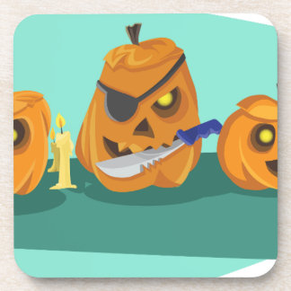 pumpkin drink coaster
