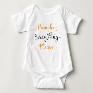 Pumpkin Everything Please Baby Bodysuit