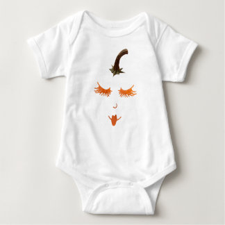 pumpkin eyelashes baby bodysuit
