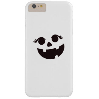 Pumpkin Face Eyelashes Halloween Costume Funny Barely There iPhone 6 Plus Case
