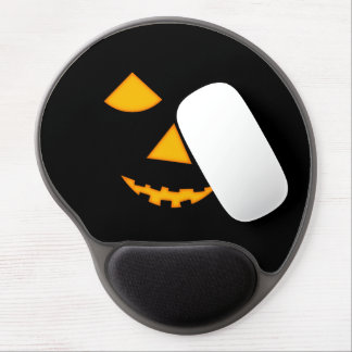 Pumpkin Face Halloween Lit Jack 0 Lantern Gel Mouse Pads