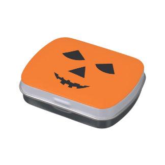 Pumpkin Face Jack-O-Lantern Halloween Treats Jelly Belly Tin