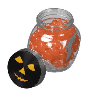 Pumpkin Face Lit Jack-O-Lantern Halloween Treats Jelly Belly Candy Jars