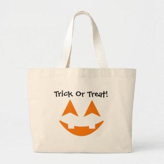 Pumpkin Faces Trick Or Treat Bag 4