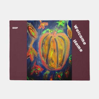 Pumpkin fall art doormat