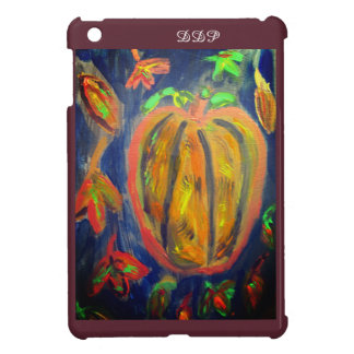 Pumpkin fall art iPad mini cover