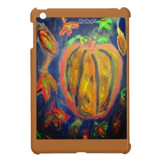 Pumpkin fall art iPad mini cover