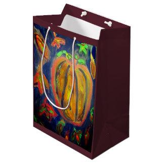 Pumpkin fall art medium gift bag