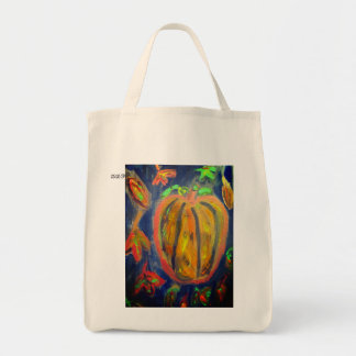 Pumpkin fall art tote bag