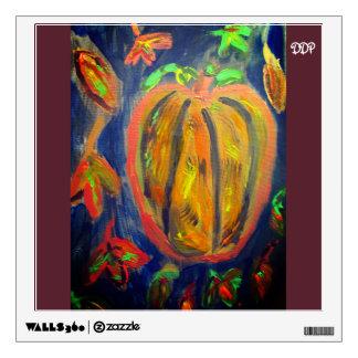 Pumpkin fall art wall decal