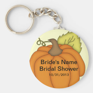 Pumpkin Fall Bridal Shower Favor Keychain