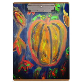 Pumpkin fell art clipboard