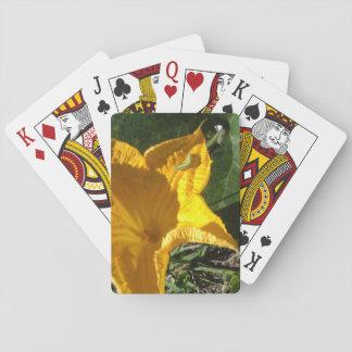 PUMPKIN FLOWER PLAYING CARDS