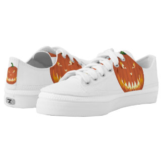 Pumpkin for Halloween... Low-Top Sneakers
