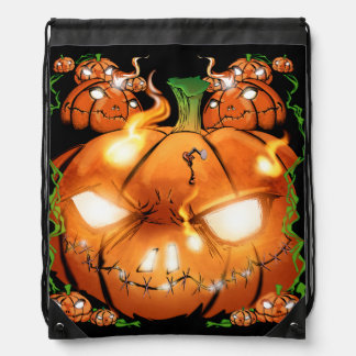Pumpkin Friends Drawstring Bag
