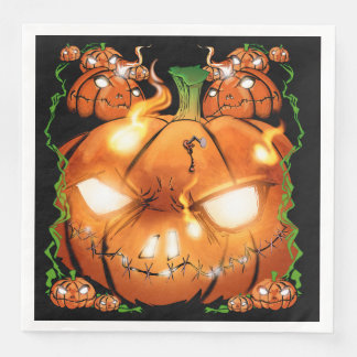 Pumpkin Friends Paper Dinner Napkin
