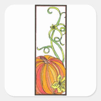 Pumpkin Gift Wrap Square Sticker