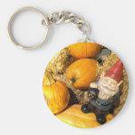 Pumpkin Gnome II Basic Round Button Keychain