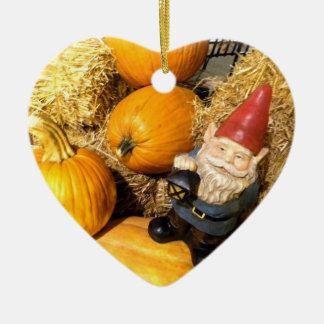 Pumpkin Gnome II Ceramic Ornament