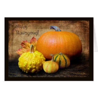 Pumpkin Gourds Still Life Card
