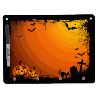 Pumpkin Graveyard Dry Erase Board