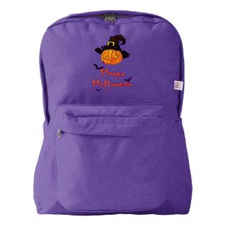 Pumpkin Halloween American Apparel™ Backpack, Navy Backpack