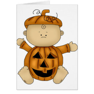Pumpkin Halloween Costume on Baby Card