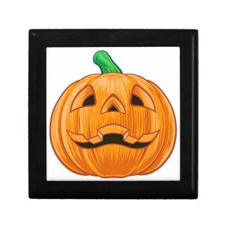 Pumpkin Halloween Illustration Gift Box