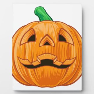 Pumpkin Halloween Illustration Plaque