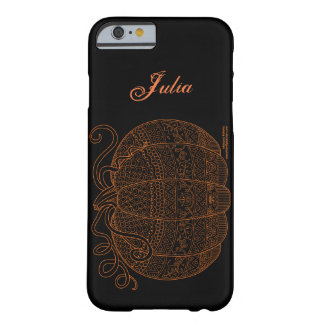 Pumpkin Halloween Thanksgiving Fall Art Orange Barely There iPhone 6 Case