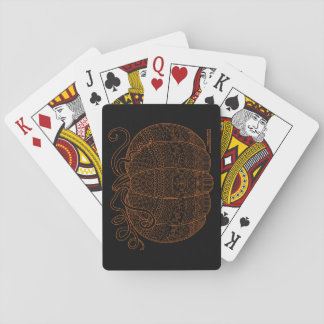Pumpkin Halloween Thanksgiving Fall Art Orange Playing Cards