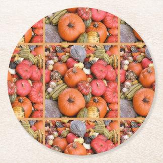Pumpkin Harvest R01.1.2 Round Paper Coaster
