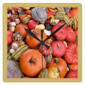 Pumpkin Harvest R01.1.2 Square Wall Clock