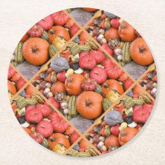 Pumpkin Harvest R01.2.3 Round Paper Coaster