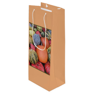 Pumpkin Harvest R02.2.6.2 Wine Gift Bag