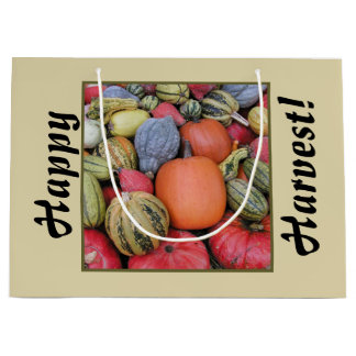 Pumpkin Harvest R02.3.9.T Large Gift Bag