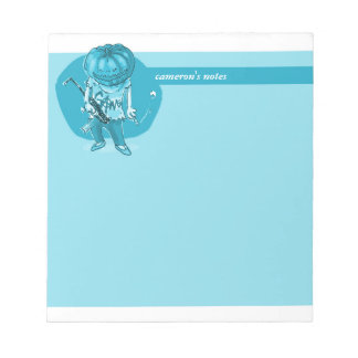 pumpkin head gangster cartoon funny illustration notepad