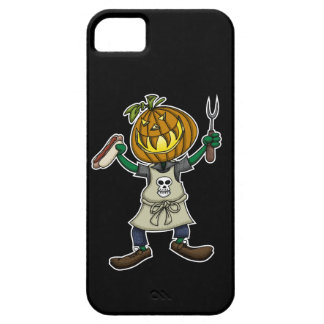Pumpkin Head Grilling iPhone 5 Cover