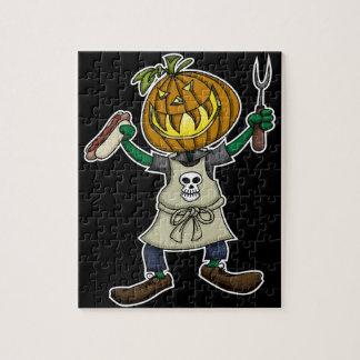 Pumpkin Head Grilling Puzzle