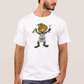 Pumpkin Head Grilling T-Shirt