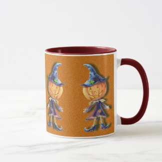 PUMPKIN HEAD, JACK & HAT by SHARON SHARPE Mug