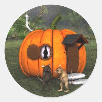Pumpkin House Mouse Sticker