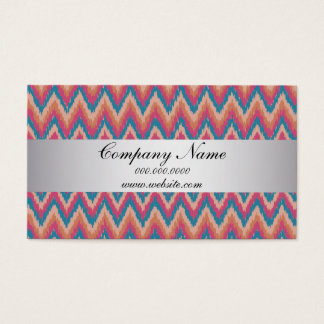 Pumpkin Ikat ZigZag Pocket 2013 Calendar Business Card