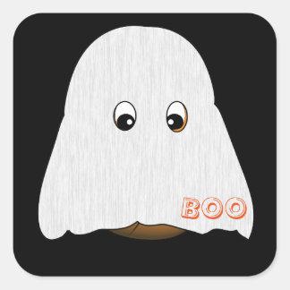 Pumpkin in ghost costume Halloween sticker