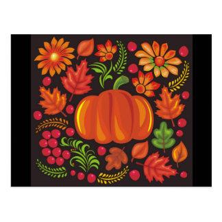 pumpkin in ukrainian style postcard