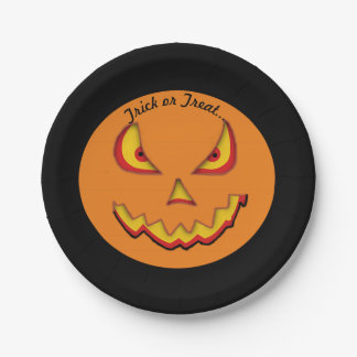 pumpkin jack 7 inch paper plate