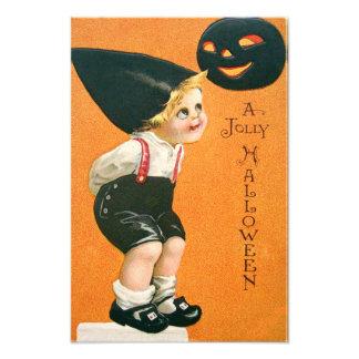 Pumpkin Jack O Lantern Boy Photograph