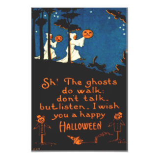 Pumpkin Jack O Lantern Ghost Black Cat Photo Print